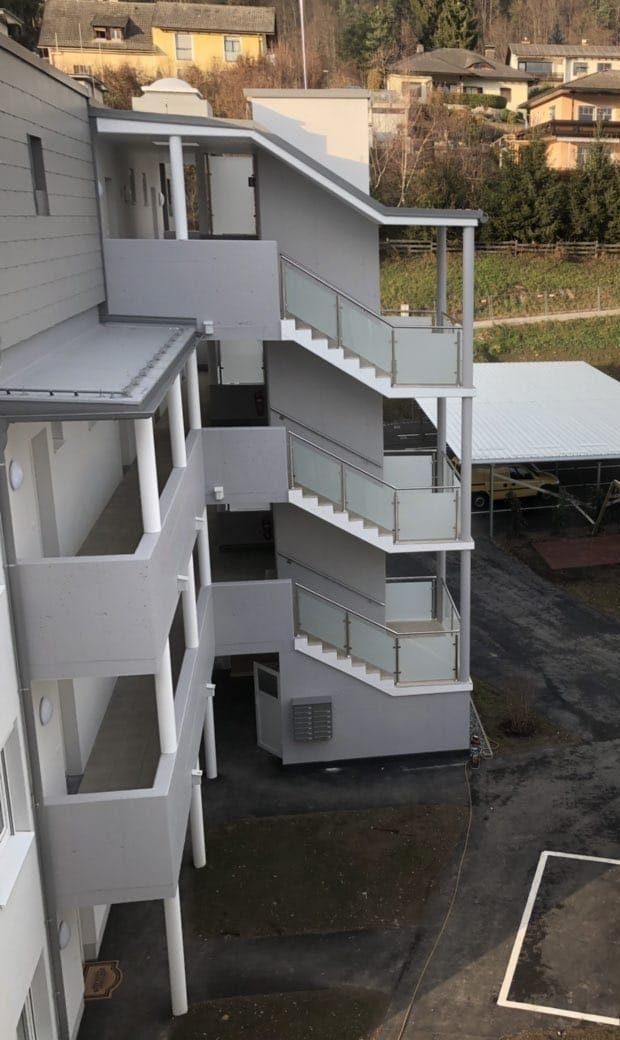 Stiegenhaus und Geländer